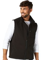 Wrangler Men's Bonded Concealed Carry Zip Trail Vest - Black
