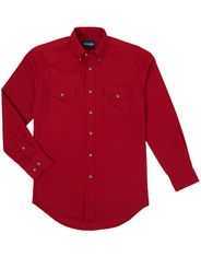 Wrangler Men's Classic Fit Painted Desert Long Sleeve Solid Button Down Shirt - Red