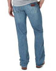Wrangler Men's Retro Low Rise Slim Fit Boot Cut Jeans - Worn In