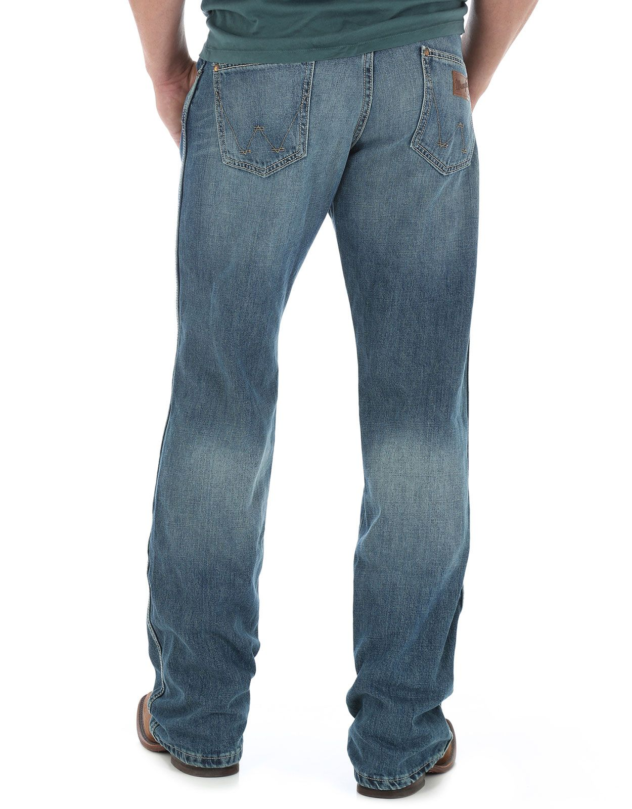 Wrangler Men's Retro Mid Rise Relaxed Fit Boot Cut Jeans - Rocky Top