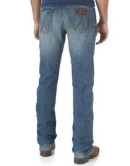 Wrangler Men's Retro Slim Straight Low Rise Slim Fit Straight Leg Jeans - Cottonwood