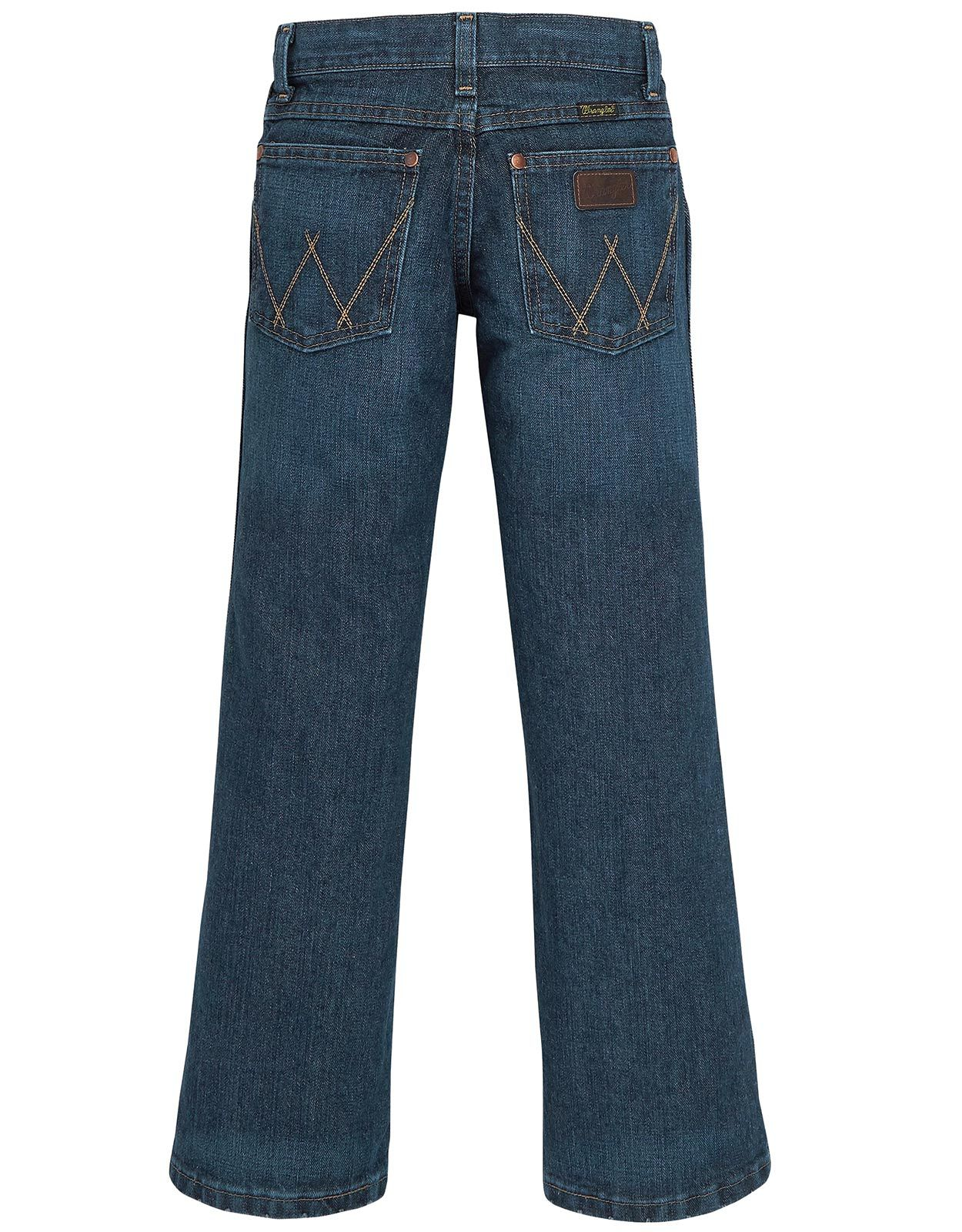 Wrangler Boy's Retro Low Rise Relaxed Fit Straight Leg Jeans (Sizes 8-20) - Everyday Blue