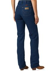 Wrangler Women's 14 High Rise Slim Fit Tapered Leg Jeans - Prewashed Indigo