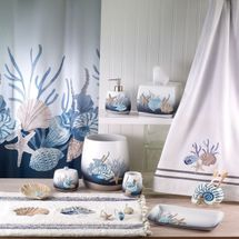 Blue Lagoon Shower Curtain & Accessories By Avanti Linens