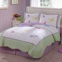Dragonfly Butterfly Cotton Quilt Set-Twin