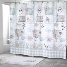 Farmhouse Shell Shower Curtain & Bathroom Accessories