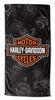 "Harley Davidson ""Blueprint"" Beach Towel"