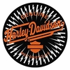 "Harley Davidson ""Static Charge"" Round Rug"