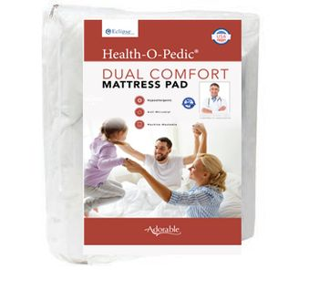 """""""Health-O-Pedic"""" 3/4 Bed Quilted Mattress Pad"""