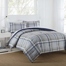 "IZOD ""Connor"" Grey/Navy Comforter Set"