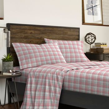 IZOD David Plaid-Grey Sheet Set