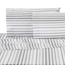 IZOD Ombre Stripe Microfiber Gray Sheet Set