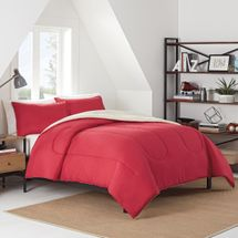 IZOD Reversible Red Comforter Set
