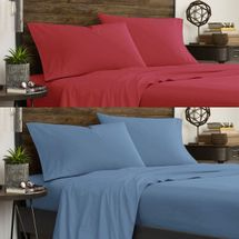 IZOD Varsity Solid Sheet Sets-Red or Blue