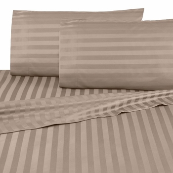 Martex 500 Thread Count Damask Stripe Egyptian Cotton Sheet Set