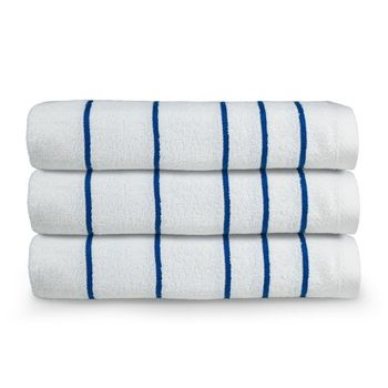 Martex Resort Stripe Pool Towel - 3 Pack-Blue or Green