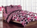 Opus Pink Bed In A bag Set-Twin Size  #1 Irregular