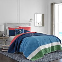 Southern Tide Sailor Stripe Multi Quilt