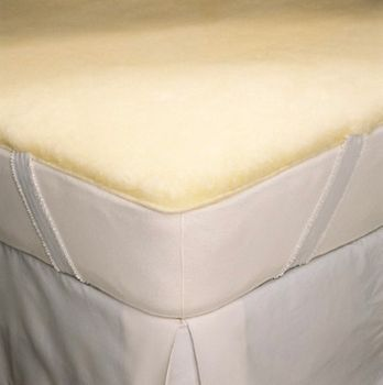 "SnugSoft   ""IMPERIAL"" Wool Mattress Pad - XL Twin 39X80"