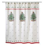 Spode Christmas Tree Shower Curtain and Accessories by Avanti