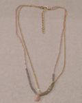 a.v. max Semi Rondelle Delica Necklace - Blush - SOLD OUT