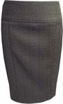 Anni Kuan Skinny Skirt - Brown/Black (Size 10)