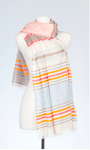 Banaris Cotton Scarf With Textured Weave - New Mexico