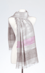 Banaris Cotton Scarf With Textured Weave & Tie-Dyed Design - Tourmaline