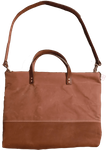 C. Beautifully Ari Canvas Tote Bag - Chestnut Waxed Canvas and Leather
