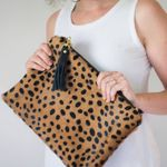 C. Beautifully Eloise Hair on Hide Clutch - Cheetah SOLD OUT