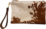 CB Studio Hair on Hide Emily Clutch - Brown/White - SOLD OUT