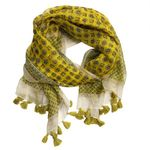 Chloe & Lex Milana Fringed Cotton Scarf - Yellow - SOLD OUT
