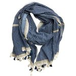 Chloe & Lex Nira Fringe Cotton Wrap - Blue