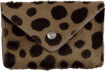 Crystalyn Kae Up-Cycled Leather Card Case Wallet - Cheetah - SOLD OUT