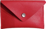Crystalyn Kae Up-Cycled Leather Card Case Wallet - Crossgrain Red - SOLD OUT