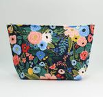 Dana Herbert Navy Floral Cosmetic Bag - Large - SOLD OUT