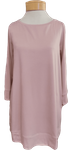 Eileen Fisher Tencel Ballet Neck Tunic - Sugarplum (Size L)