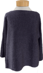 Eileen Fisher Fine Merino with Sparkle Tipping Bateau Neck Top - Blue Shale