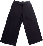 Eileen Fisher Flex Tencel Ponte Wide Cropped Pant - Black