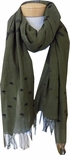 Eileen Fisher Handloomed Organic Cotton Jamdani Scarf - Olive