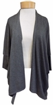Eileen Fisher Lightweight Cozy Tencel Stretch Angle Front Cardigan - Ash