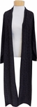 Eileen Fisher Morse Code Tencel Viscose Kimono Long Jacket With Belt - Black (Size M & L)