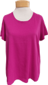 Eileen Fisher Organic Cotton Jersey U Neck Tee - Cerise
