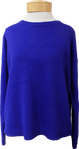 Eileen Fisher Organic Linen Cotton Crew Neck Box Top -  Royal (Size L)