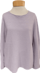 Eileen Fisher Organic Linen Cotton Jewel Neck Box Top - Wisteria (Size L) -  SOLD OUT