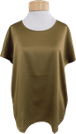 Eileen Fisher Scoop Neck Box Top - Gold Leaf (Size M & L)