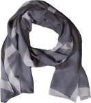 Eileen Fisher Silk Shibori Intersections Scarf - Zinc
