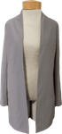 Eileen Fisher System Lightweight Washable Stretch Crepe Long Jacket - Zinc
