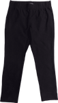 Eileen Fisher Washable Stretch Crepe Slim Cropped Pants - Black
