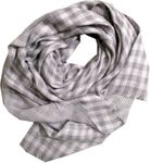 Eileen Fisher Wool Double Weave Plaid Scarf - Moon